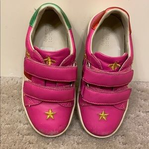 Gucci kids web bee and star embroidered sneakers
